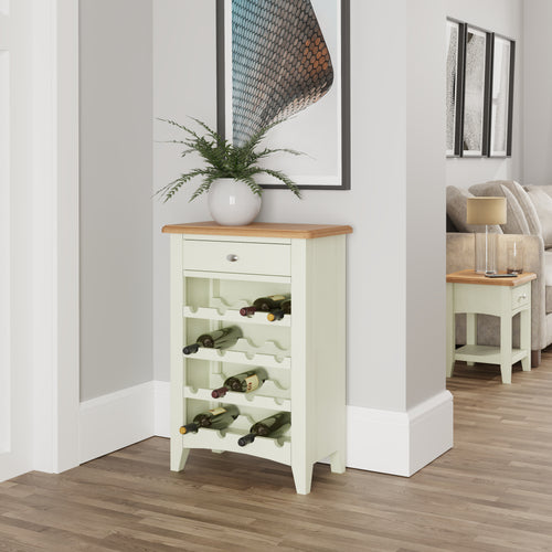 Painted White Wine cabinet