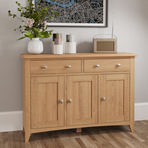 Light Oak 3 Door Sideboard