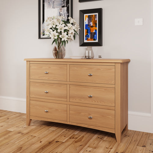 Light Oak 6 Drawer Chest