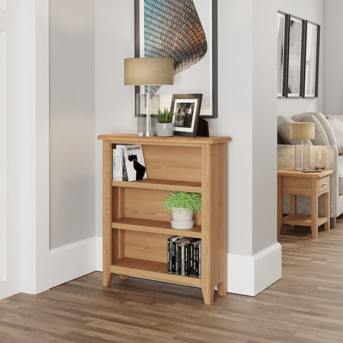 Light Oak Small Wide Bookcase