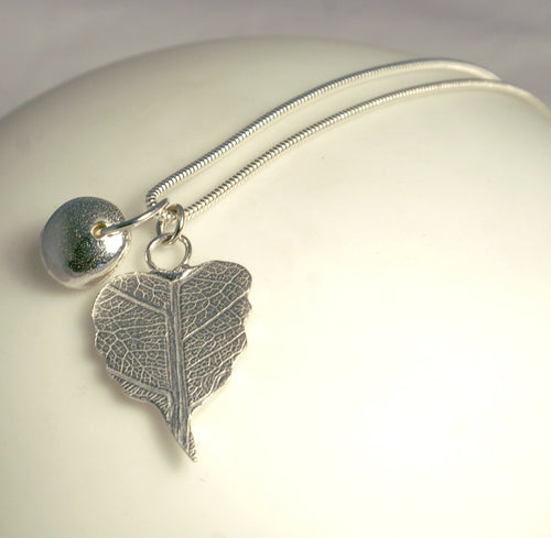Leaf and Nugget Pendant