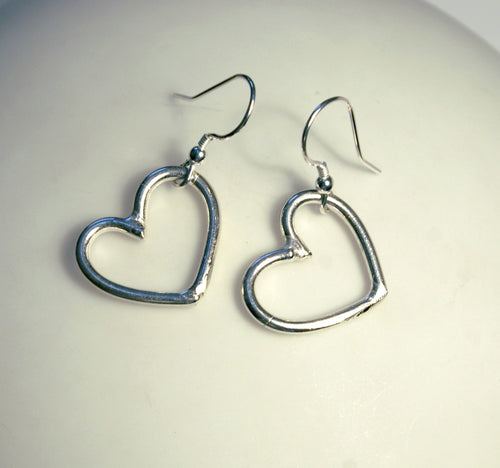 Small Heart Hoop Earrings