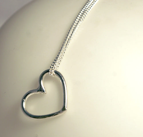 Small Heart Hoop Pendant