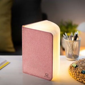 Pink Fabric Mini Book Light