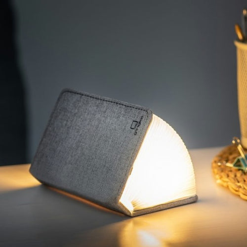 Grey Fabric Mini Book Light