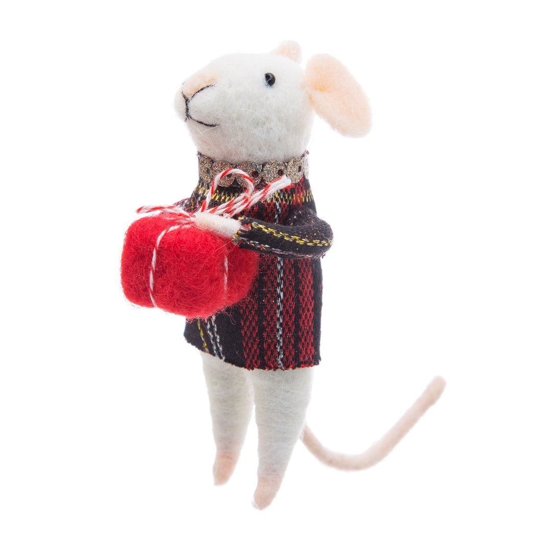 Mouse With Gift Decoration