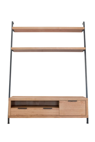 Industrial TV Bookcase