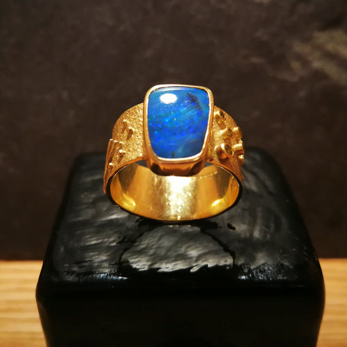 Michelle White Boulder Opal Ring