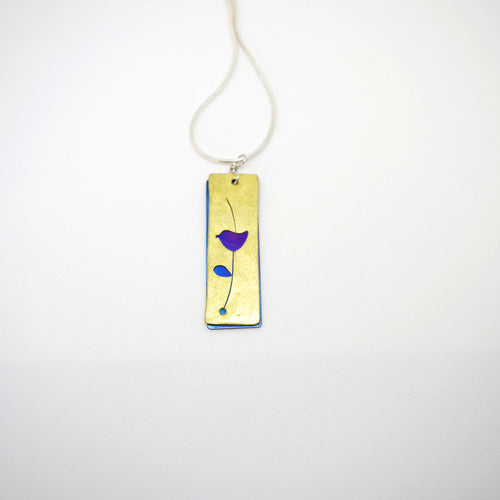 Medium Rectangle Bird Cutout Necklace