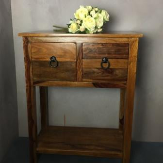 2 Drawer Sheesham Console Table