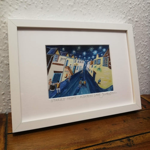 Starry Night Ashton Lane (Framed)
