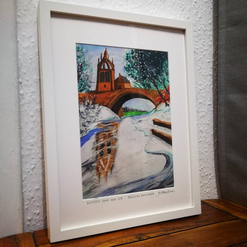 Kelvinbridge in Winter (Framed)