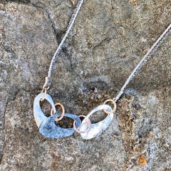 Mixed Metals Ovals Necklace