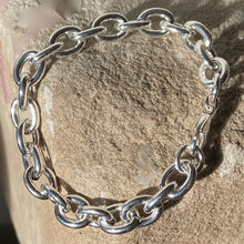 Load image into Gallery viewer, Silver Chunky Bracelet