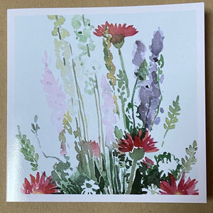 Watercolour Spring Meadow Flowers