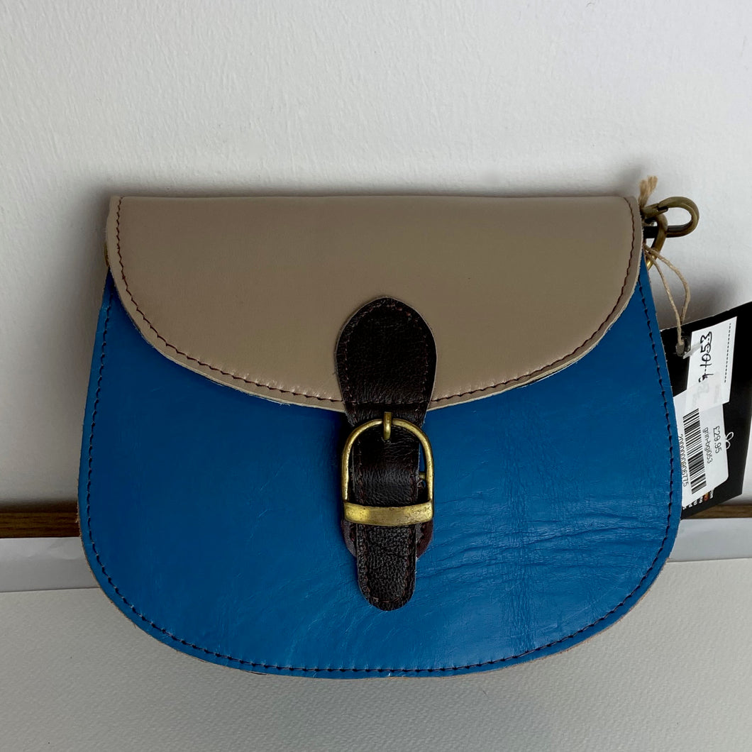 Recycled Leather Bag with shoulder strap