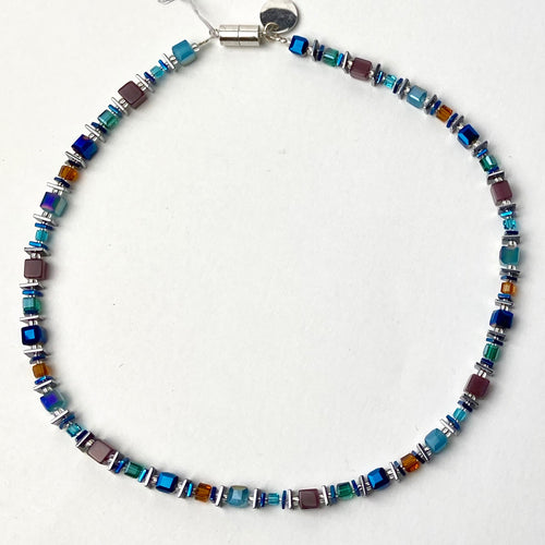 Turquoise and Lilac Necklace