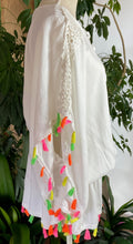 Load image into Gallery viewer, White Tassled Kaftan
