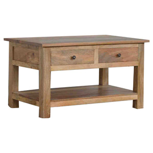 4 Drawer Coffee Table with Shelf