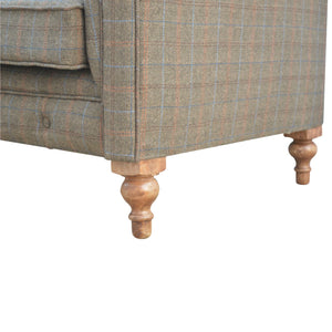 Tweed Chesterfield - 3 Seater Sofa