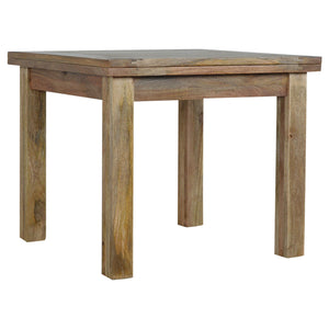 Extendable Butterfly Dining Table with Straight Legs