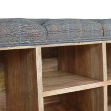 Load image into Gallery viewer, Multi Tweed Shoe Cabinet with 6 Shelves