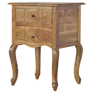 French Style 2 Drawer Bedside