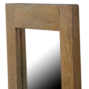 Rectangular Framed Wooden Wall Mirror