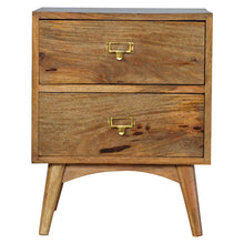 Load image into Gallery viewer, Brass Metal Slot Bedside Table -2 Drawer