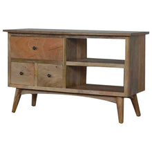 Load image into Gallery viewer, Scandinavian Media Unit - 3 Drawers, 2 Shelves