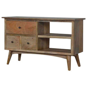 Scandinavian Media Unit - 3 Drawers, 2 Shelves