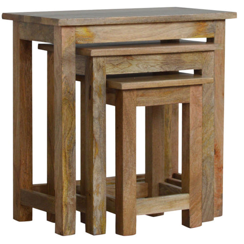Country Style Nesting Tables - Set of 3
