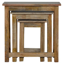Load image into Gallery viewer, Country Solid Wood Stool Set of 3