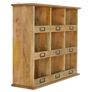 Solid Wood Wall Mounted Storage Unit