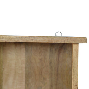 Mounted Coat Rack - 3 Shelves, 4 Hooks