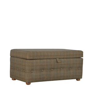 Footstool Upholstered In Multi Tweed