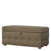 Load image into Gallery viewer, Footstool Upholstered In Multi Tweed