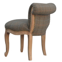Load image into Gallery viewer, Petite French Chair Upholstered In Multi Tweed