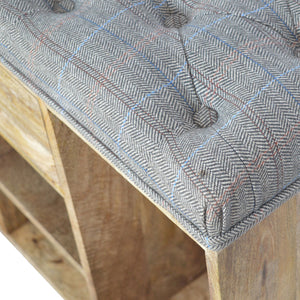 Tweed Storage Bench