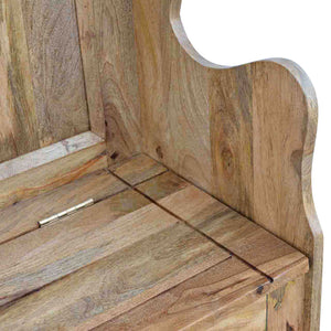 Solid Wood Large Monks Storage Bench