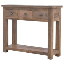 Load image into Gallery viewer, Solid Wood Hallway Console Table with 3 Drawers