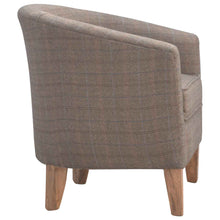 Load image into Gallery viewer, Upholstered Tweed Tub Chair
