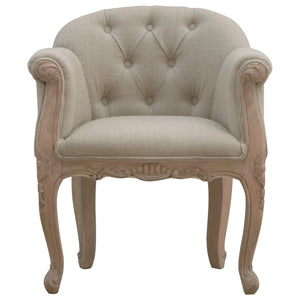 French Style Linen Accent Chair