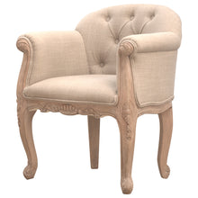 Load image into Gallery viewer, French Style Linen Accent Chair