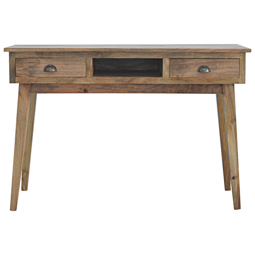 Two Drawer Writing Desk with Open Slot