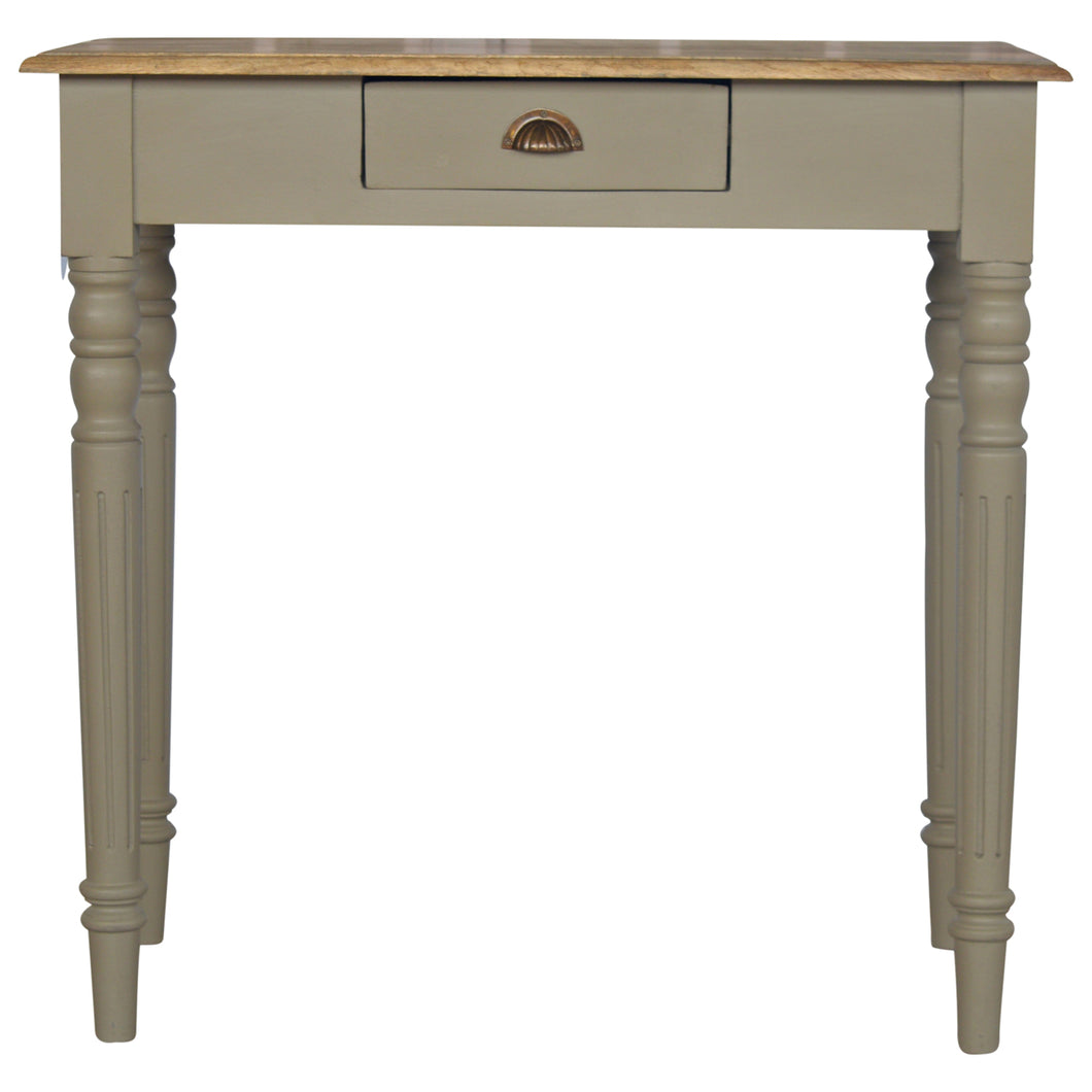1 Drawer Writing Desk with Flute Legs