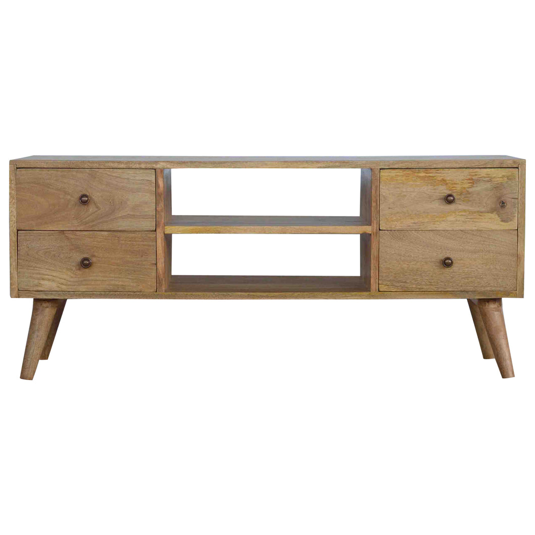 Nordic Style Media Unit - 4 Drawers