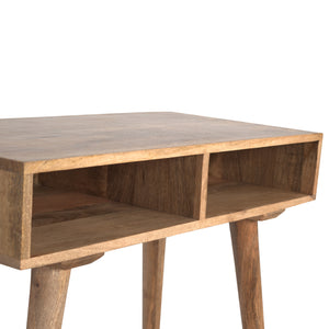 Solid Wood Nordic Writing Desk With 2 Open Slots
