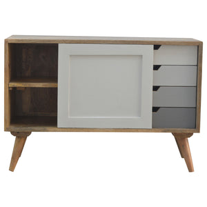 Nordic Cabinet with 4 Drawers & Sliding Cabinet