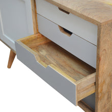 Load image into Gallery viewer, Nordic Grey Sliding Cabinet - 4 Drawers